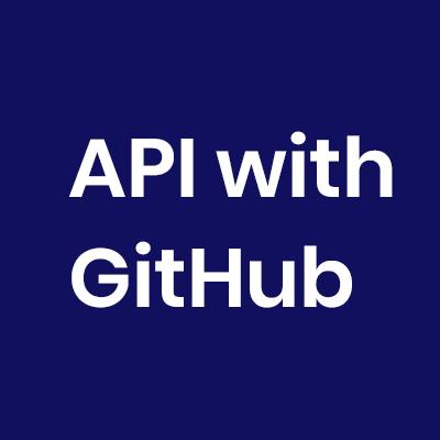 API with GitHub